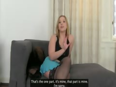 Horny blondie suck fake...